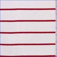 *1 YD PC--Ivory/Red Cotton Jersey Knit