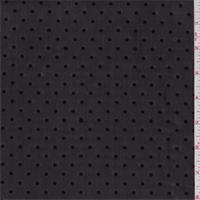 *3 3/8 YD PC--Black Flocked Dot Stretch Mesh