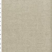 *2 YD PC--Natural White/Taupe Linen Twill Home Decorating Fabric