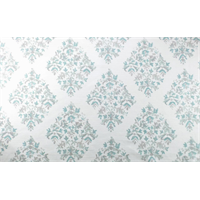 *2 YD PC--White/Turquoise/Grey Diamond Print Home Decorating Fabric