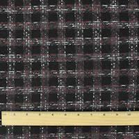 *2 YD PC--Black/Pink/Multi Texture Tweed Jacketing