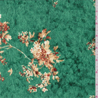 *2 YD PC--Emerald Cluster Print Panne Velour