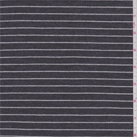 *2 7/8 YD PC--Slate Black/White Stripe Jersey Knit