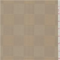 *3 1/2 YD PC--Golden Beige Silk Block Satin