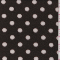 *5/8 YD PC--Brown/White Polka Dot Polyester Fleece