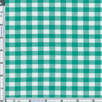 *3 1/8 YD PC--Minty Green Sheer Gingham Shirting