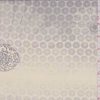 *1 5/8 YD PC--Buff/Grey Medallion Silk Georgette