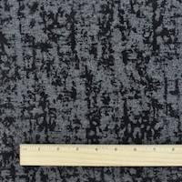 *2 YD PC--Gray/Black Velvet Flock Texture Ponte