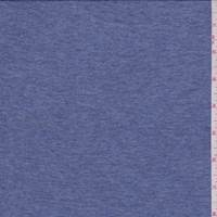 *2 5/8 YD PC--Heather Blue Cotton Sweater Jersey Knit