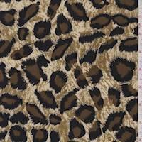 *1 YD PC--Beige/Brown Cheetah Print ITY Jersey Knit