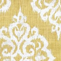 *6 1/2 YD PC--Yellow/White Medallion Print Cotton Canvas Home Decorating Fabric