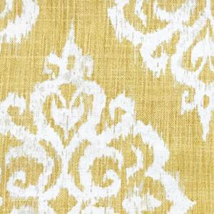 Piece of printed fabric canvas cotton 105x190 cm geometric green yellow blue