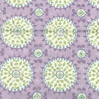 *2 3/8 YD PC--Orchid/Green Multi Kaleidoscope Print Cotton Canvas Decorating Fabric