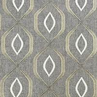 *3 YD PC--Mossy Oak/Gray Embroidered Ogee Woven Home Decor Fabric