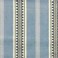 *3 1/2 YD PC--Blue/White Ethnic Vertical Stripe Woven Home Decorating Fabric