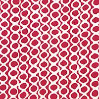 *9 5/8 YD PC--Candy Pink/White Abstract Circle Print Canvas Decorating Fabric
