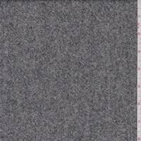 *3 3/4 YD PC--Charcoal Wool Tweed Suiting