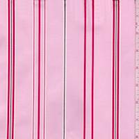 Pink/Red Stripe Cotton Twill
