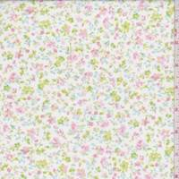 White Multi Mini Floral Cotton