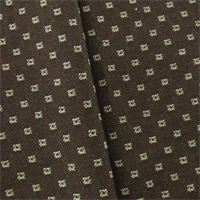 *2 YD PC--Brown/Ivory JR Scott Wool Square Home Decorating Fabric