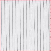 Ivory/Black Dotted Stripe Rayon Georgette