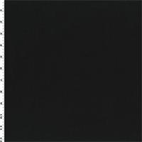 *1 1/2 YD PC--Black Wool Blend Boiled Stretch Melton Coating