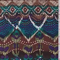 Mocha/Aqua Aztec Rayon Challis