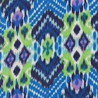 Sapphire/Lime Ikat Rayon Challis