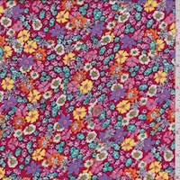 Red Multi Mini Floral Rayon Challis