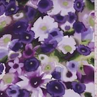 Amethyst Daffodil Floral Rayon Challis
