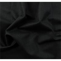 *3 3/8 YD PC--Raven Black Wool Blend Momie Suiting