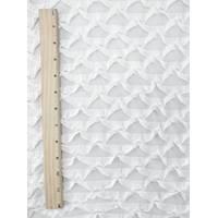 *3 YD PC--White Scallop Ruffle Knit