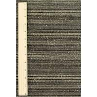 *2 5/8 YD PC--Black/Taupe/Metallic Gold Novelty Stripe Tweed Jacketing