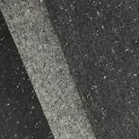 Black/Multi Texture Wool Blend Border Stripe Jacketing