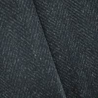 Black/Midnight Navy Wool Blend Herringbone Jacketing