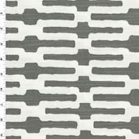 *4 YD PC--Gray/White Trellis Print Woven Home Decorating Fabric