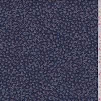 *2 1/8 YD PC--Navy Mini Floral Denim Shirting