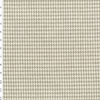 *1 YD PC--Taupe Beige/Ivory Linen Houndstooth Home Decorating Fabric