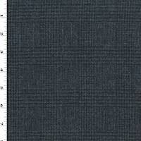 *3 1/2 YD PC--Midnight Navy/Black Wool Glen Plaid Jacketing