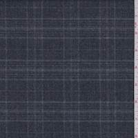 *3 3/8 YD PC--Slate Plaid Flannel Suiting
