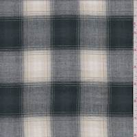 *1 3/4 YD PC--Spruce/Beige Plaid Check Flannel