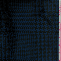 *3 1/4 YD PC--Blue/Black Plaid Faux Fur Fleece