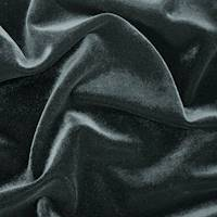 *1 5/8 YD PC--Night Black Velvet Knit