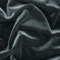 *1 5/8 YD PC--Night Black Velvet Knit