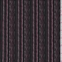 *1 1/4 YD PC--Black/Pumice Stripe Jersey Knit