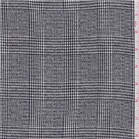 *4 1/2 YD PC--Navy Blue Plaid Suiting