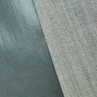 *1 1/4 YD PC--Cool Gunmetal Gray Metallic Print Stretch Denim