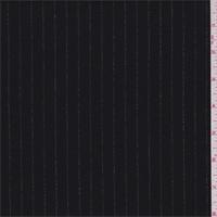 *4 3/4 YD PC--Black/Grey Pinstripe Wool Flannel