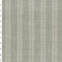 *1 3/4 YD PC--Taupe Gray/White Tropical Wool Texture Dobby Plaid Suiting