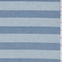 Blue/Powder Blue Stripe Stretch Denim